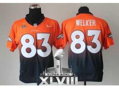 Nike Denver Broncos #83 Wes Welker Orange Navy Blue Super Bowl  for sale