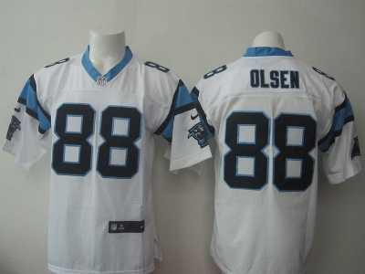 c4ecdeec2 Nike Carolina Panthers  88 Greg Olsen white jerseys(Elite) Nike ...