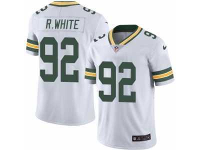 Men s Nike Green Bay Packers  92 Reggie White Elite White Rush NFL Jersey ae611b827