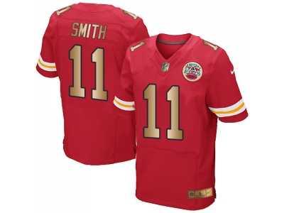 3870f07f5c3 Nike Kansas City Chiefs  11 Alex Smith Red Team Color Men s Stitched ...