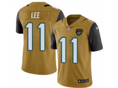 8ee26bbe Men's Nike Jacksonville Jaguars #11 Marqise Lee Elite Gold Rush NFL ...