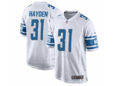 new style 31442 2743a Men's Nike Detroit Lions #31 D.J. Hayden Game White NFL ...