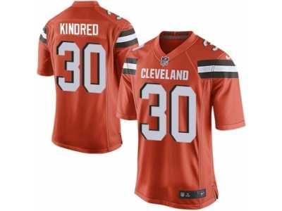 Men  s Nike Cleveland Browns  30 Derrick Kindred Game Orange Alternate NFL  Jersey 034462de9