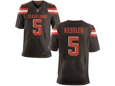 Men  s Nike Cleveland Browns  5 Cody Kessler Elite Brown Team Color NFL 34eb0a988