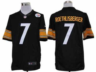 bbfcf0fbd52 Nike NFL Pittsburgh Steelers  7 Ben Roethlisberger Black (Limited)Jerseys