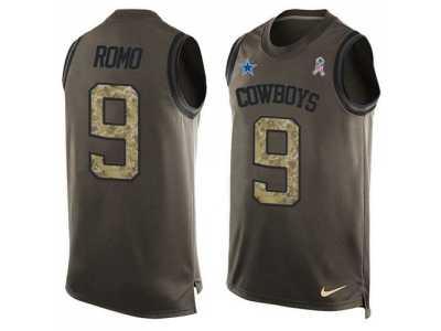 Wholesale Nike Dallas Cowboys #9 Tony Romo Green Men's Stitched NFL Limited
