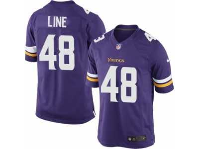 6048d7643 ... Men s Nike Minnesota Vikings  48 Zach Line Limited Purple Team Color NFL  Jersey