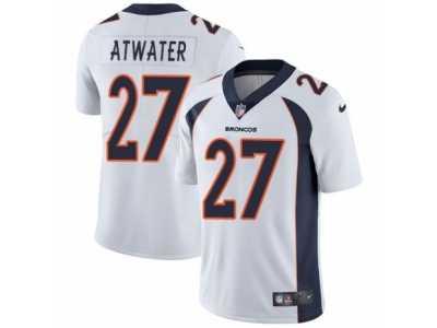 ... Men s Nike Denver Broncos  27 Steve Atwater Vapor Untouchable Limited  White NFL Jersey b81958935