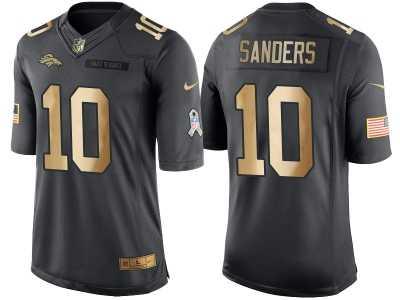 Nike Denver Broncos  10 Emmanuel Sanders Anthracite 2016 Christmas Gold  Men  s NFL 476367cce