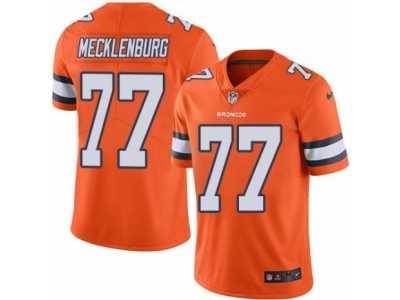 505d0735bc0 Nike Denver Broncos  77 Karl Mecklenburg Orange Men s Stitched NFL Limited  Rush Jersey