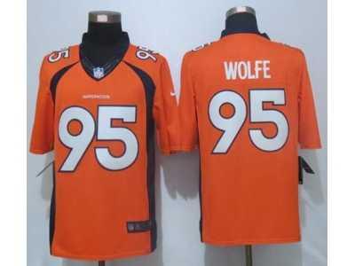 online store ca609 299b9 Nike Denver Broncos #95 Derek Wolfe Orange Team Color Men's ...