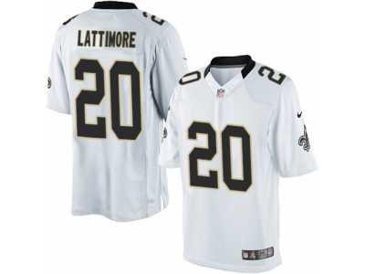 Men  s Nike New Orleans Saints  20 Marshon Lattimore Limited White NFL  Jersey 2569f41e1