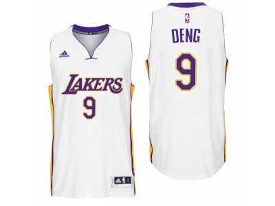 ca70351899e Men Los Angeles Lakers #9 Luol Deng Alternate White New Swingman Jersey