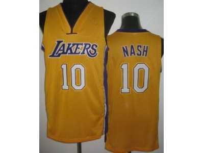 492080393e3 ... nashty fashion swingman black nba jerseys e02d6 92cfc  promo code nba  los angeles lakers 10 steve nash yellow jerseysrevolution 30 bc72f 15105