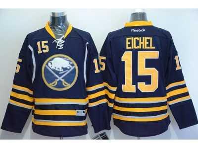 buffalo sabres 15 jack eichel navy blue stitched nhl jersey