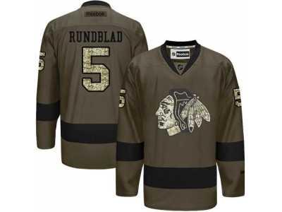 169357e5e7bf Chicago Blackhawks  5 David Rundblad Green Salute to Service Stitched NHL  Jersey