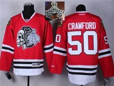 NHL Chicago Blackhawks  50 Corey Crawford Red(White Skull) 2014 Stadium  Series 2015 41d5ccf9f