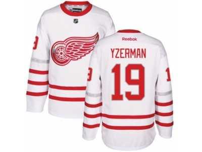 87994d0f8ab Men  s Reebok Detroit Red Wings  19 Steve Yzerman Authentic White 2017  Centennial