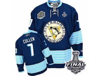 Men  s Reebok Pittsburgh Penguins  7 Matt Cullen Premier Navy Blue Third  Vintage 216dc0be9