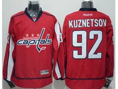 Washington Capitals  92 Evgeny Kuznetsov Red Home Stitched NHL Jersey 895809b27373