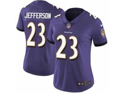 e6ff4971c ... Women s Nike Baltimore Ravens  23 Tony Jefferson Vapor Untouchable  Limited Purple Team Color NFL Jersey