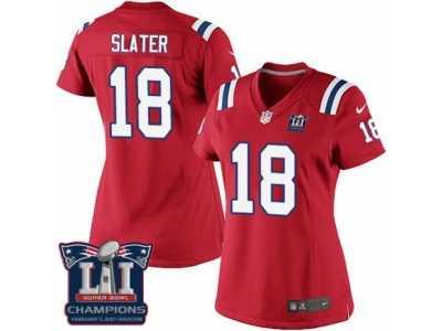443e68f6f Women\'s Nike New England Patriots #18 Matthew Slater Red Alternate Super  Bowl