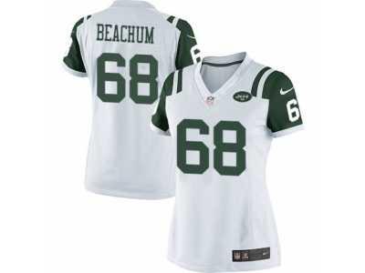 low priced 51908 91e97 Women's Nike New York Jets #68 Kelvin Beachum Limited White ...