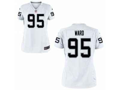 pretty nice 33c36 46af7 Women's Nike Oakland Raiders #95 Jihad Ward White NFL Jersey ...