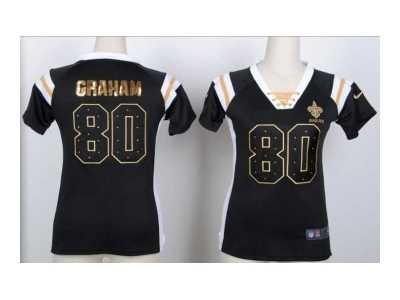 5f8f1dd78 ... Nike women new orleans saints  80 graham black jerseys Fashion  Rhinestone sequins