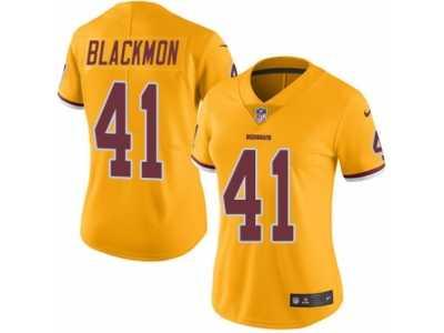 Cheap Women's Nike Washington Redskins #41 Will Blackmon Limited Gold Rush