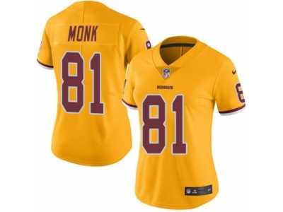 a3017fdd6 Women s Nike Washington Redskins  81 Art Monk Limited Gold Rush NFL Jersey