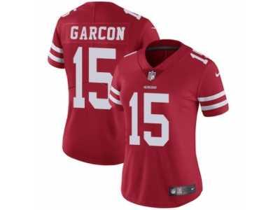 d9ee831b6 Women s Nike San Francisco 49ers  15 Pierre Garcon Vapor Untouchable  Limited Red Team Color NFL