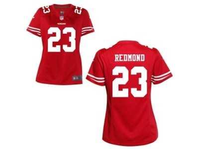 76d3b9714 ... Women s Nike San Francisco 49ers  23 Will Redmond Red Team Color NFL  Jersey