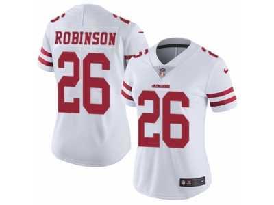 340133bef Women s Nike San Francisco 49ers  26 Rashard Robinson Vapor Untouchable  Limited White NFL Jersey