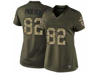 womens nike san francisco 49ers 82 logan paulsen limited green salute to service nfl jersey