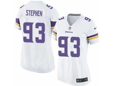 7bc7bb73c Women s Nike Minnesota Vikings  93 Shamar Stephen Limited White NFL Jersey