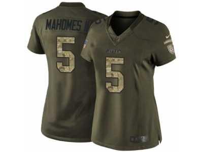 b1eab2ab299b Women  s Nike Kansas City Chiefs  5 Patrick Mahomes II Limited Green Salute