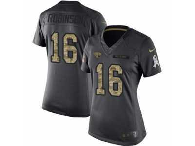 Women s Nike Jacksonville Jaguars  16 Denard Robinson Limited Black 2016  Salute to Service NFL Jersey 6197f3464