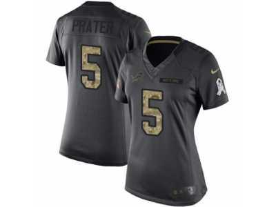 ... hot womens nike detroit lions 5 matt prater limited black 2016 salute to  service nfl jersey bf93020ac