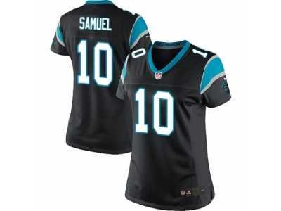 7174376ab ... Women s Nike Carolina Panthers  10 Curtis Samuel Limited Black Team  Color NFL Jersey