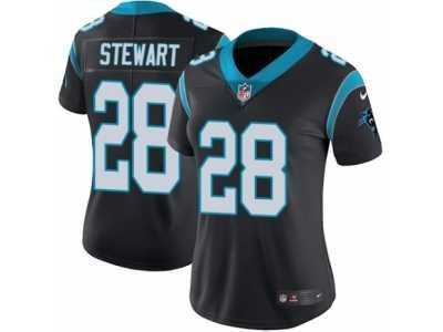 aa6ef0e3e32 Women's Nike Carolina Panthers #28 Jonathan Stewart Vapor Untouchable  Limited Black Team Color NFL Jersey