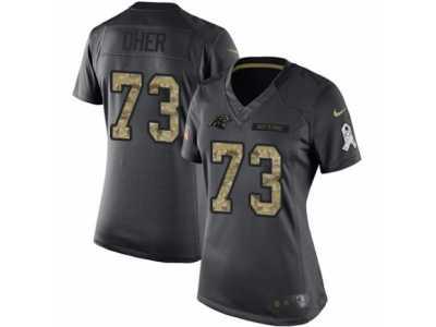 0f99b4034 Women  s Nike Carolina Panthers  73 Michael Oher Limited Black 2016 Salute  to
