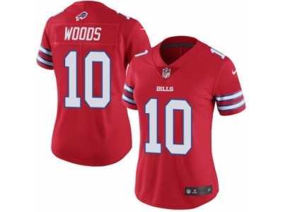 62afee3c3 Women s Nike Buffalo Bills  10 Robert Woods Limited Red Rush NFL Jersey