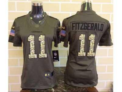 low priced adb2b 58dc5 Women Nike Arizona Cardinals #11 Larry Fitzgerald Green ...