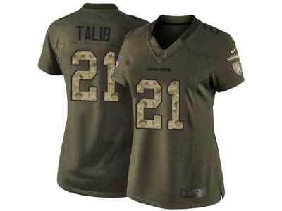 competitive price 7d17b 5e2ae Women Nike Denver Broncos #21 Aqib Talib Green Salute to ...
