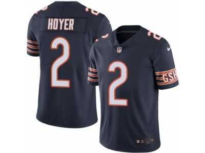 da2de9d6d Men s Nike Chicago Bears  2 Brian Hoyer Limited Navy Blue Rush NFL Jersey