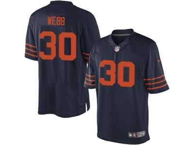 3f7c68a05 Men s Nike Chicago Bears  30 B.W. Webb Limited Navy Blue 1940s Throwback  Alternate NFL Jersey