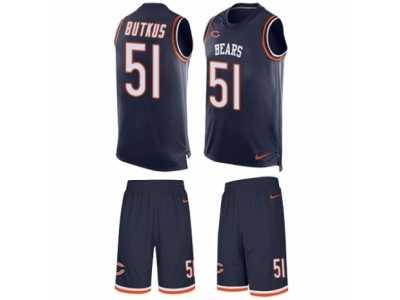 08b6e63b Men's Nike Chicago Bears #51 Dick Butkus Limited Navy Blue Tank Top ...