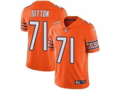 00ada3bed62 ... Men s Nike Chicago Bears  71 Josh Sitton Vapor Untouchable Limited  Orange Rush NFL Jersey