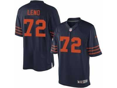 54231b86c ... Men s Nike Chicago Bears  72 Charles Leno Limited Navy Blue 1940s  Throwback Alternate NFL Jersey